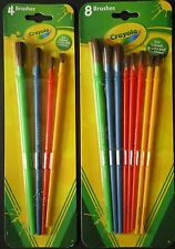 CRAYOLA PAINT BRUSHES Art Brush Painting,  SELECT: 4 or 8 ct/pack