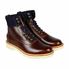 Timberland Abington Iceboro Boot Mens Brown Blue Leather Boots Shoes