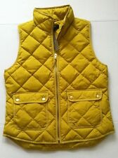 NWT J.Crew Excursion Quilted Down Puffer Yellow Chartreuse Vest Size S Fast Ship