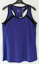 BNWT Next Davina Blue Mix Fitness Top wt Bust Support, Size 18,  RRP £28