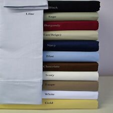 King-Size Super Soft Wrinkle Free Solid Sheets, 95GSM 100% Microfiber Sheet Set