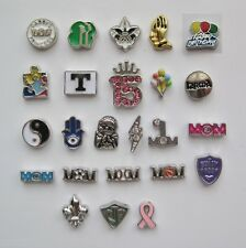 Floating Charms for Glass Memory Lockets - SYMBOLS and WORDS