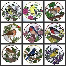 Birds with Circle embroidered iron on patches