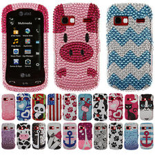 For LG Xpression 2 C410 Music Forever Crystal Bling Hard Case Cover Accessory