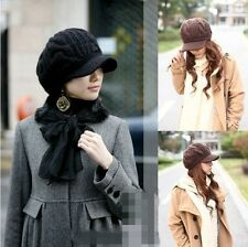 Fashion Winter Crochet Knitted Wool Hat Peaked Cap for women girl Free shipping