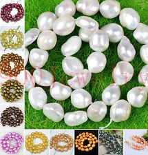 10-11mm Cultured Rice Oval Fresh Water Pearl Loose Freeform DIY Bead