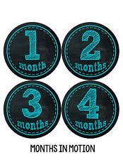 Months In Motions Baby Boy Monthly Stickers Month Sticker Chalkboard Boys 145