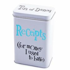 Bright Side ~ Storage Tin ~ Receipts Tin - For Money I Used To Have