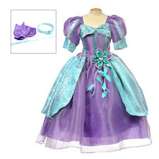Girls Disney Princess Ariel The little Mermaid Costume dress up size 12mon-10yrs