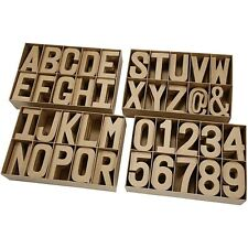 Papier Paper Mache Large 20.5cm Letters Numbers Cardboard Craft PM628