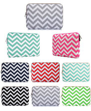 Chevron Canvas Fabric Sleeve Case Bag cover for all laptop 11,13,15 Macbook