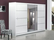 Brand New Modern Bedroom Sliding Door Wardrobe with mirror VISTA WHITE