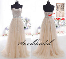 PLUS 16W-26W Sequin Formal Evening Long Dresses Party Prom Gown Bridesmaid Dress
