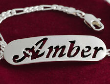 """Bracelet With Name """"AMBER""""- 18K Gold Plated 