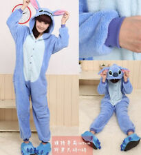 Hot Adult Kigurumi Pajamas Anime Cosplay Costume Onesie Sleepwear Blue Stitch