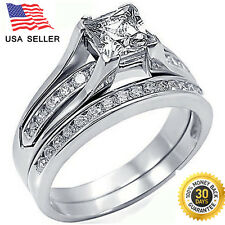 Double silver Rings ( 925 Sterling silver ) Anniversary/Promise/Proposal