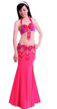New High Quality Belly Dance Costume 2 Pieces Set of Strap Top Bra&Belt 11 color