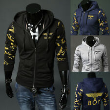 Men's Fashion Slim Fit Long Sleeve Casual Hooded Hoodies Coat Jacket outwear ff