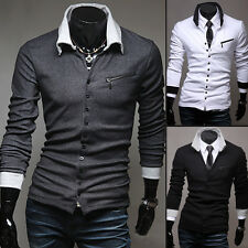 New Men's Casual Slim Fit V-neck Knitted Cardigan Pullover Jumper Sweater Tops b