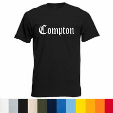 New MEN COMPTON Old English T-Shirt - Eazy E NWA Dr. Dre Game all colors availa