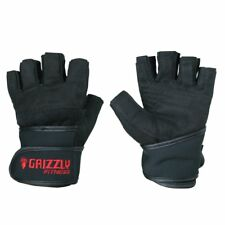 Grizzly Fitness Power Paw Strength Training Wrist Wrap Gloves - Weight Lifting