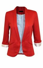 EX TOPSHOP (UK 8, 10, 12, 14, 16) RED JERSEY LINED BLAZER JACKET FREE DELIVERY