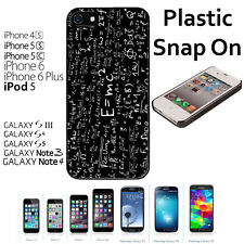 Math Forumlas Case For iPhone 4S/5/5S/5C/6/6+Galaxy S4/S5-Snap On