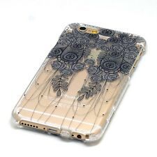 Bouquet Floral Necklace Henna Clear iPhone Case 5 5c 6 plus Galaxy S3 S4 Note 4