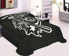 Sons Of Anarchy Logo Queen Size Luxury Plush Mink Blanket 79x96