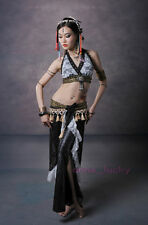 New Belly Dance Costume Egypt Tribal Free Size Lace Top Bra & Skirt 2 colours