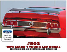 902 1973 MACH 1 MUSTANG - TRUNK STRIPE with MACH 1 - NAME IN STRIPE - LICENSED