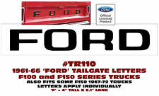 TR110 1961-66 FORD F100 & F150 TRUCK - STYLESIDE TAILGATE LETTERS DECAL LICENSED