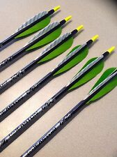 "6 Easton Gamegetter Aluminum Arrows w/  4"" Feathers"