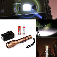 UltraFire 2200lm CREE XM-L T6 LED Flashlight Focus Torch + 18650 Battery Charger
