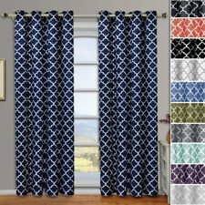 Meridian Grommet Room DarkeningThermal Insulated Window Curtain Pair Set of 2