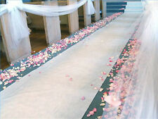 White Poly Aisle Runners, Your choice 50' or 75' wedding, bridal, decorations