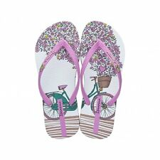 Ipanema Bicycle 81571 White/Pink Ladies Vegan Friendly Flip Flops Various Sizes