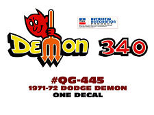QG-445 1971-72 DODGE - DEMON 340 with PITCHFORK DECAL - ONE DECAL