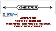 QG-392 1978-79 DODGE - MIDNITE EXPRESS TRUCK  - TAILGATE CREST DECAL