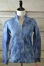 New! Style & Co Sport Petite Blue Tye Dye Zip Up Sweatshirt (PP,PM,PL) SC-226-44