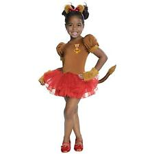 Girls Wizard of Oz Cowardly Lion Costume Tutu Fancy Dress Child Kids Lioness NEW