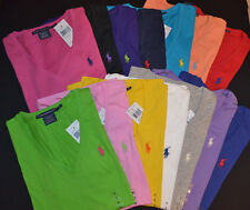 NEW WOMENS POLO RALPH LAUREN COTTON V-NECK SHORT SLEEVE T-SHIRT TEE