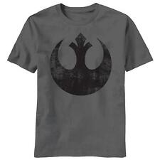 """Star Wars T-Shirt """"Old Rebel"""" Logo - Distressed / Vintage Style Gray - All Sizes"""