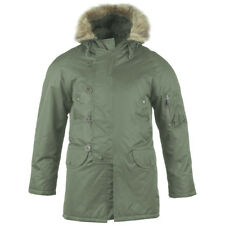 Army N3B Snorkel Parka Cold Weather Military Style Jacket Olive Green XS-3XL