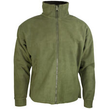 Highlander Thor Warm Mens Polar Fleece Weatherproof Outdoor Hiking Jacket Olive