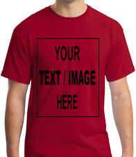 ADULT T-SHIRT PRINTED WITH TEXT OF YOUR CHOICE
