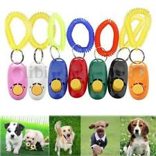 Obedience Button Puppy Dog Pet Click Clicker Training Trainer Aid Wrist Strap