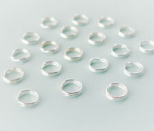 Sterling Silver Split Jump Rings 4mm, Double Looped, 10, 20 or 50 USA Seller