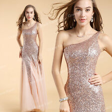 Long Sequins Mermaid Formal Prom Dresses Evening Homecoming Pageant Wedding Gown