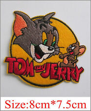 Wholesale-10/50/100pc Embroidered Iron/Sew on Patch Tom and Jerry Applique Badge